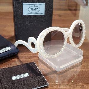 PRADA Sparkle Crystal Baroque Sunglasses 💎